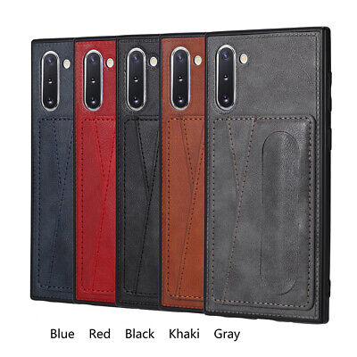 For Samsung Galaxy Note 10 Plus Leather Card Pocket Wallet Stand Slim Case Cover