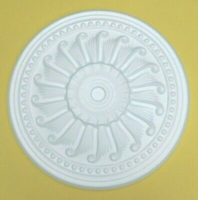 40 CM Ceiling Rose Size - 'SUNDEW' Ceiling Rose Polystyrene Easy Fit Lightweight