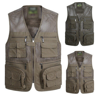 Mesh Liner Waistcoat Fly Fishing Vest Sleeveless Jacket for Men