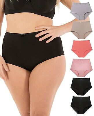 Barbra 6 Pack Women's High-Waist Tummy Control Girdle Panties Small to Plus Size