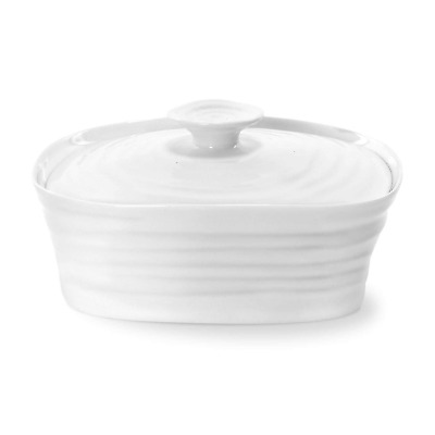 Sophie Conran for Portmeirion Covered Butter Dish, Porcelain, White, 12 x 15.5 x