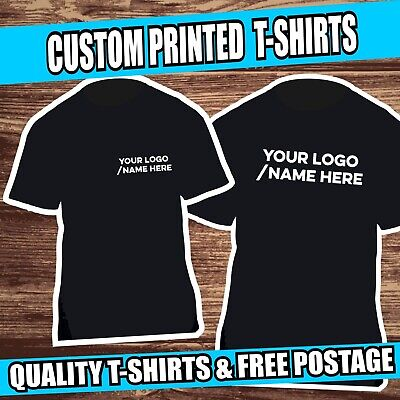 Personalised Custom Printed Cotton T Shirts Work Shirt Casual Fruit of the Loom