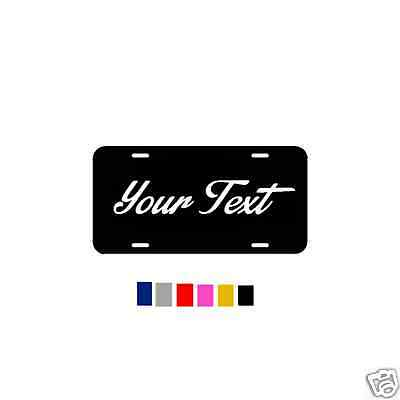 BLACK PERSONALIZED CUSTOM ALUMINUM LICENSE PLATE Car Tag (Your Name & Color)
