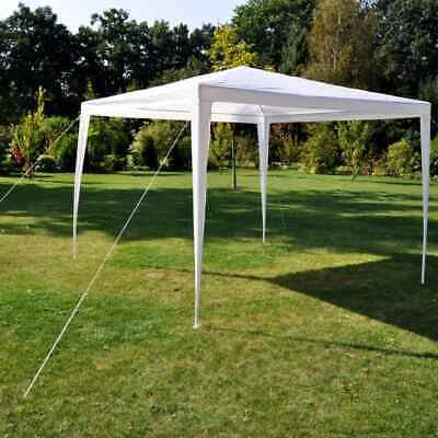 HI Gazebo 3x3m White Outdoor Garden Patio Shelter Party Tent Canopy Marquee~