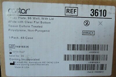 Case 48 Costar 96-Well  360µL Clear FB Cell Culture Microplate w/ Lid # 3610