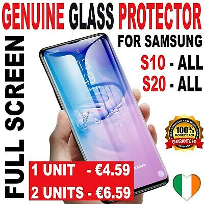 Samsung S10 S10 Plus + S10E S9 Note 9 CASE FRIENDLY Real Glass Screen Protector