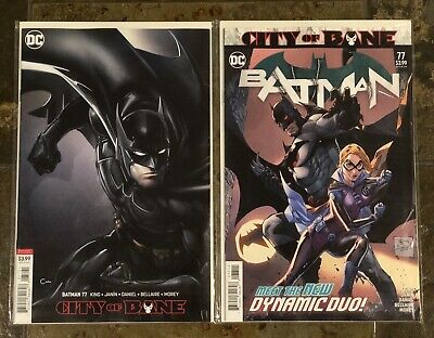 DC  BATMAN # 77  COVER A & VARIANT SET OF 2 BOOKS 1st PRINT DEATH OF Alfred??