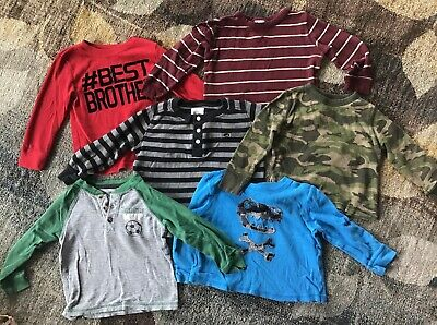 Lot of 6 Boys Long-Sleeved Shirts Size 3T