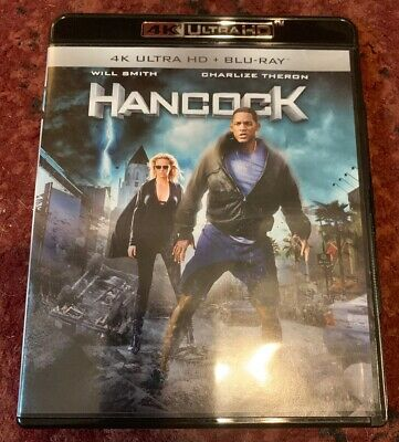HANCOCK Movie: 4K Ultra HD + Blu-Ray Discs. Near Perfect Condition Will Smith