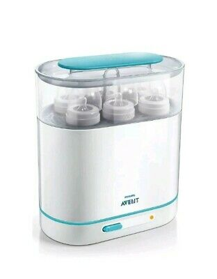 Philips 3-in-1 Electric Steam Sterilizer Baby Bottle Pumps Fits 6 Bottles AVENT