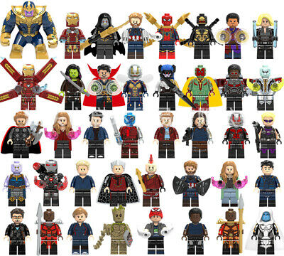 Marvel DC Comics Super Heroes 500 Building Block LEGO Minifigures X-Men Avengers