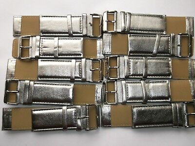 Wholesale Job Lot 80 Silver  Faux Leather Watch Straps   25Mm New
