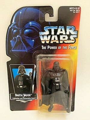 Star Wars The Power of The Force Darth Vader Action Figure Long Lightsaber 1995