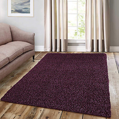 Cozy Shag Collection Solid Shag Rug Contemporary Living & Bedroom Soft Shaggy CM