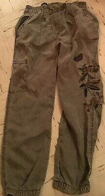 Khaki Green Girls Trousers From Next 4-5 Years