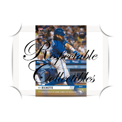 Bo Bichette 8/20/2019 MLB TOPPS NOW® Card #722 Blue Jays - Rookie Call-up RC 2HR