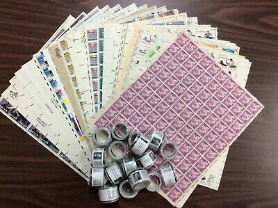 Discount Stamps: $512.02 Face Value, Lot Of Mint Sheets, New Condition