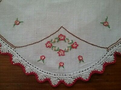 Vintage Embroidered Doily