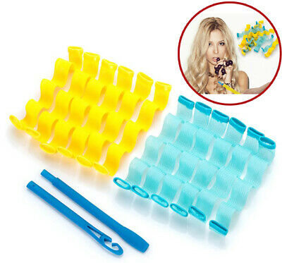 12 Hair Wave Curlers Set Formers Leverage Spiral Hairdressing Tool Water Ripple