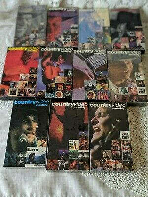 Country Music Video 1995 Monthly VHS Tapes Lot of 11
