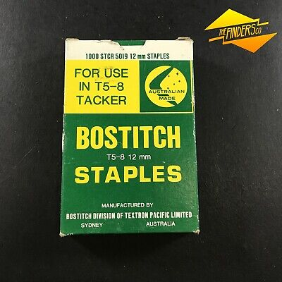 New Old Stock Box 1000 Bostitch 12Mm Staples T5-8 Tacker Made In Australia #2