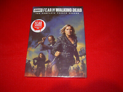 2018 Complete Fourth Season 4 Four Sealed New FEAR THE WALKING DEAD DVD 4-Disc