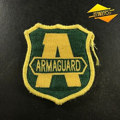 Vintage Obsolete Armaguard Security Embroidered Patch Shoulder Logo Badge #2