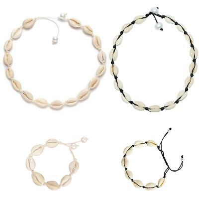 Womens Beach Shell Cowrie Pendant Choker Necklace Bracelet Anklet Jewelry