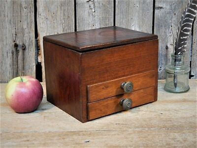 "AAFA Rare Antique Primitive Wood ""MAKE-DO"" Writing Box c 1910"