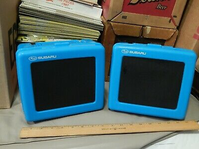 Subaru Promotional Plastic Lunch Box {LOT of 2} Snack Kit Containers Ltd