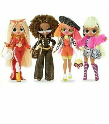 LOL Surprise OMG SerieS 1 Swag Neonlicious Lady Diva Royal Bee FULL 4 Doll SET