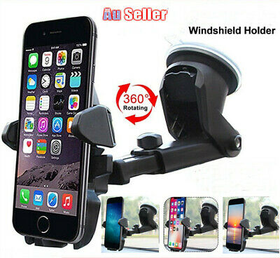 360 Car Phone Holder Windscreen Universal Suction Mount GPS Stand Cradle AU