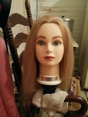 My Beauty Shop Pal Cosmetology Hair Mannequin Head  Sara W/360 Vice Desk Clamp