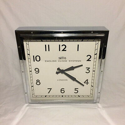 Smiths English Clock Systems Square Chrome Clock Remake