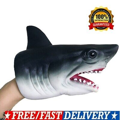 Shark Hand Puppet Soft Kids Toy Gift Great For jaws Cake Decoration Topper NEW