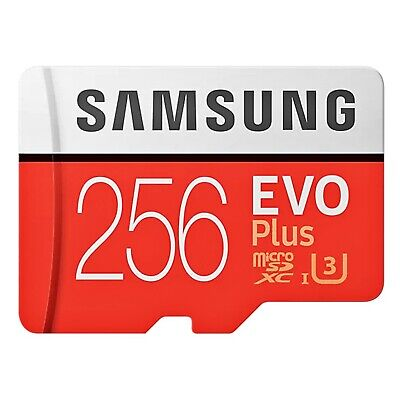 Samsung  256GB Micro SDXC Evo Plus 100MB/s Class 10 Mobile Phone TF Memory Card