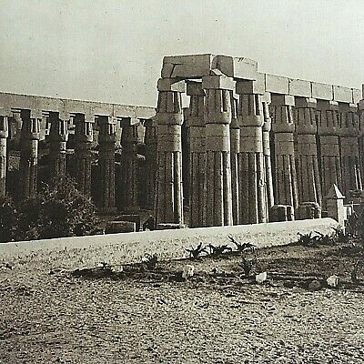 1913 Antique Print Picture Egypt Temple of Luxor The Mentor Association