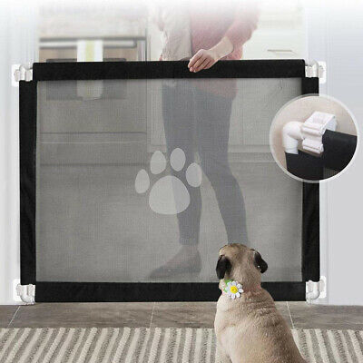 Folding Pet / Dog Gate Safety Guard Baby Toddler Stair Retractable Isolation Hot