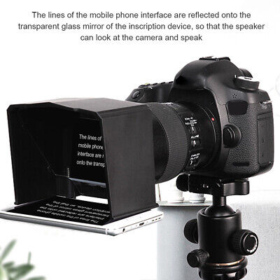 Interview Phone Use Portable Teleprompter Set With Adapter Ring DSLR Camera ABS