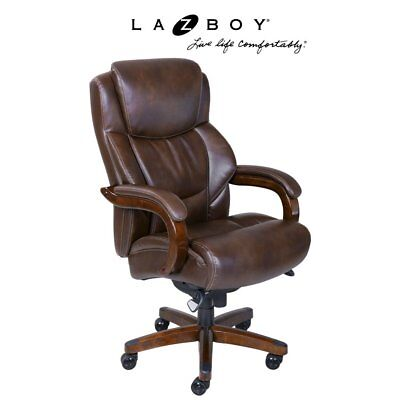 La-Z-Boy Delano Big and Tall Executive Office Chair -, Chestnut