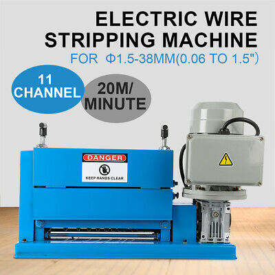 Comercial 370W Cable Stripper Electric Wire Stripping Machine Portable Powered