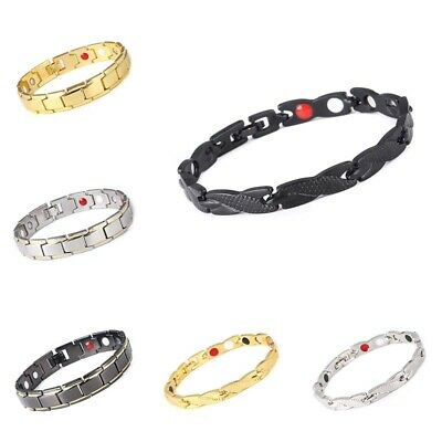 Therapeutic Energy Healing Stainless Magnetic Bracelet Therapy Arthritis Jewelry