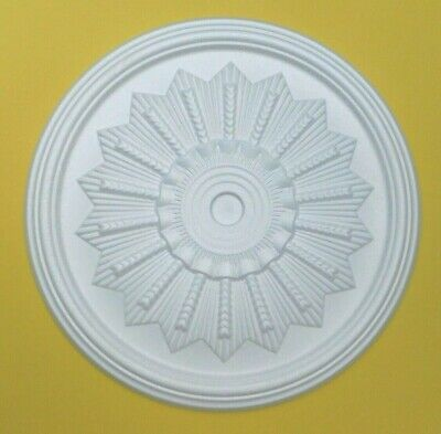 Ceiling Rose Polystyrene Easy Fit Lightweight Size 46cm 'CORNFLOWER'