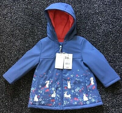 Mothercare Baby Girls Rubber Coat Jacket Spring Bunny Rabbit 3-6 Months
