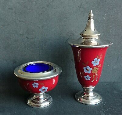 Mappin & Webb Silver Plated Pepper Pot & Mustard Pot