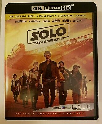 Solo: A Star Wars Story (4K UHD, Blu-ray Ultimate Edition NO DIGITAL!!