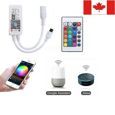 Mini Wifi LED Controller+24 Button IR Remote for RGB LED Strip lights Phone CA