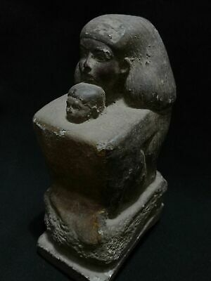 Rare ANCIENT EGYPTIAN ANTIQUES Senenmut With Neferure Block Statue 1473-1458 BC