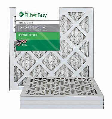 FilterBuy 6x12x1 MERV 8 Pleated AC Furnace Air Filter, (Pack of 4 Filters), 6x12