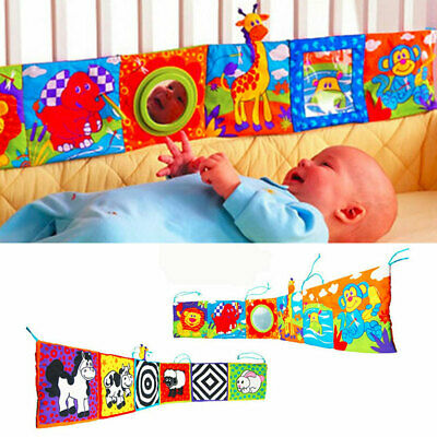 Newborn Infant Baby Early Educational Cloth Book Kids Baby Cot Intelligent Toy